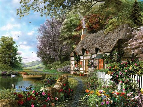 Country Cottage by Home Sweet Home Puzzle Warehouse For Jigsaw Puzzle Fans
