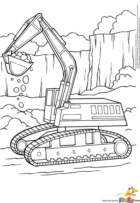 Bulldozer Pelle M 233 Canique 56 Transport Coloriages 224