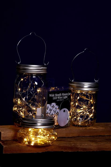 Mason Jar Lights Fairy Lights Battery Op. Warm White (fits