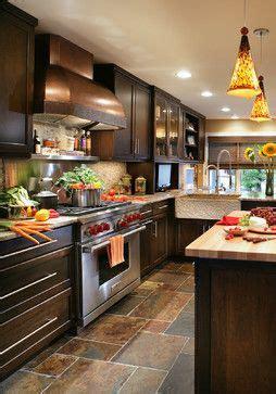 transitional   twist transitional kitchen  dark