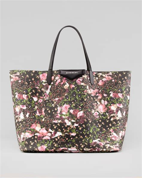 Fivency Flower Pouch givenchy antigona large baby s breath floral print shopping tote in black lyst