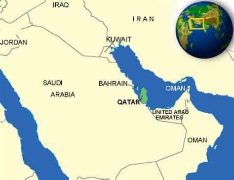 qatar map in world katar karte geschichte