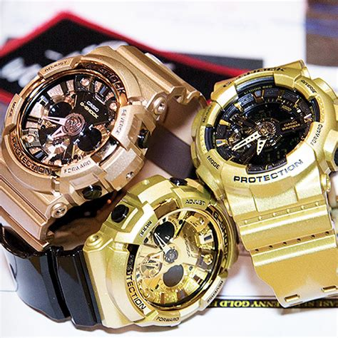 golden g shock continues the popular black gold