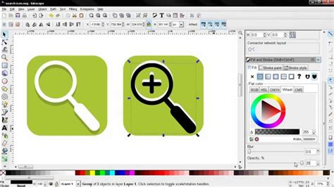 inkscape tutorial for beginners search zoom in out icons inkscape tutorial for