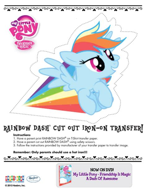 printable iron on transfers free my little pony printable rainbow dash iron on transfer