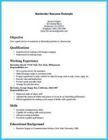 Bartending Resume Samples Excellent Ways To Make Great Bartender Resume Template