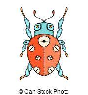 free doodle bug ladybug vector clip illustrations 59