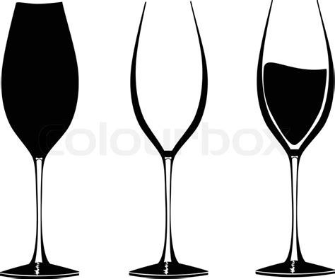 wine glass svg wine glasses in graphic vector for use in party or