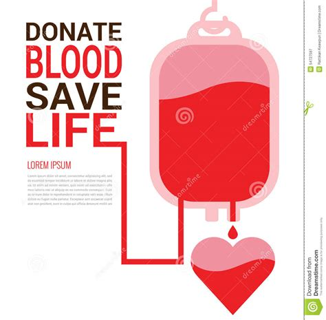 poster design blood donation world blood donor day concept stock vector image 54727597