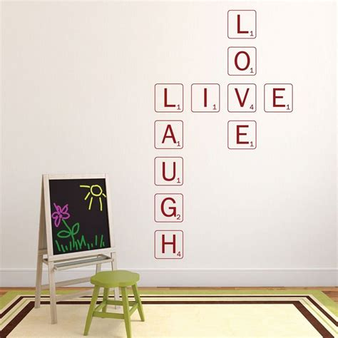 live laugh stickers for wall live laugh wall decal scrabble wall customvinyldecor