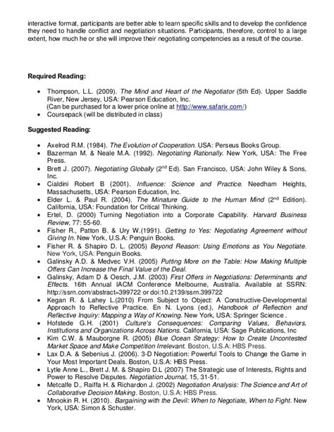 Negotiation Notes Mba by Orgb 633 Negotiation Mcgill Mba Winter 2014