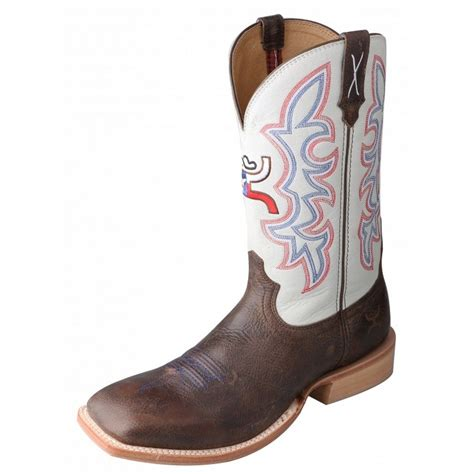 hooey cowboy boots hooey western boots boys cowboy square brown white