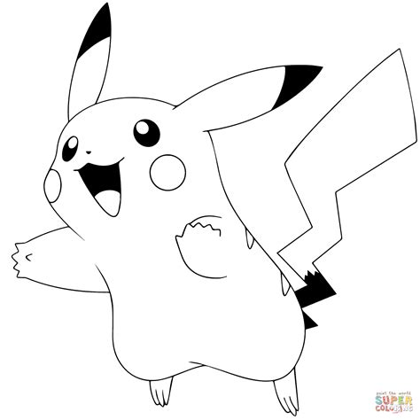 pikachu coloring pages printable pok 233 mon go pikachu 025 coloring page free printable