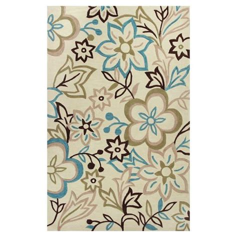 Kas Rugs Best Of Spring Ivory Blue 8 Ft X 10 Ft Area Rug Blue Area Rug 8 X 10