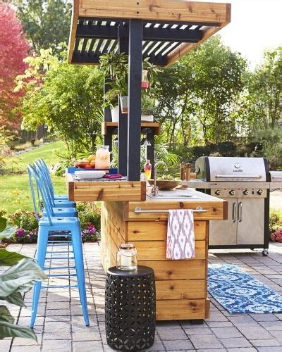 diy outdoor kitchen ideas best 25 diy outdoor kitchen ideas on grill