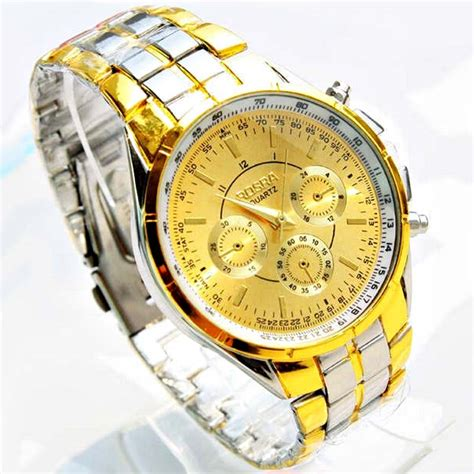 luxury brand rosra 18k gold plated watches gold