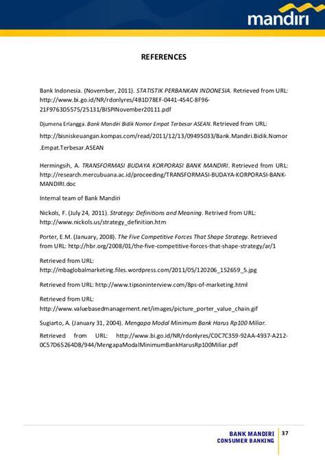 Letter Of Credit Di Bank Syariah Mandiri Bank Mandiri Consumer Banking Study