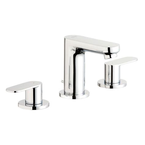 grohe grandera 8 in widespread 2 handle high arc bathroom faucet in polished chrome 20419000 grohe eurosmart cosmopolitan 8 in widespread 2 handle
