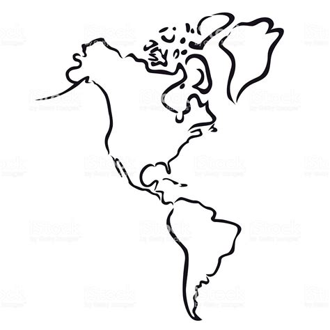 usa map silhouette black abstract outline of and south america map