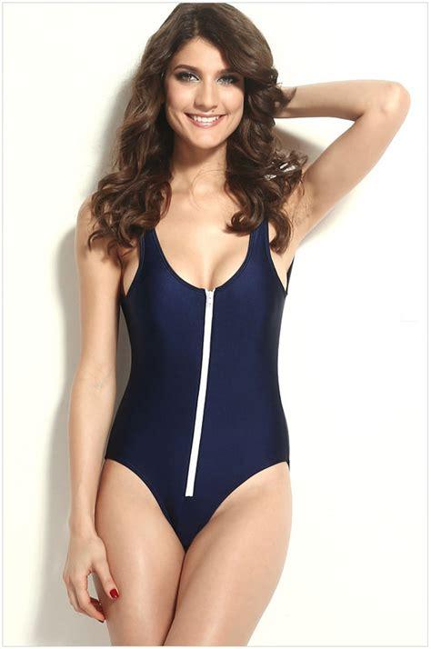 Front Zip Swimsuit zip front one swimsuit
