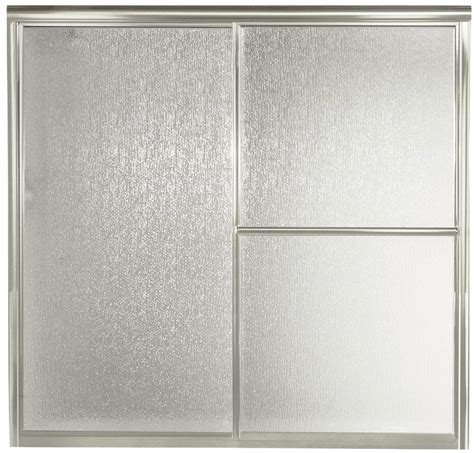 Sterling 5900 Shower Door Sterling 5900 Tub Shower Door 59 3 8 In W X 56 1 4 In H Silver