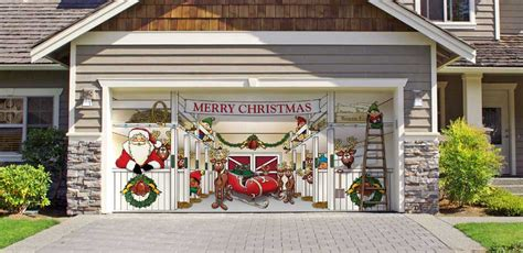 christmas decoration ideas for garage doors atlanta ga