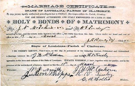 La marriage records