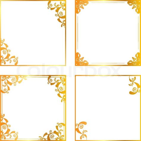 Gothic Revival Home Plans by Gold Floral Frame Stock Vector Colourbox