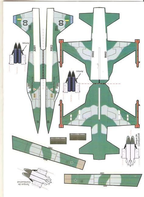Papercraft Model Free - 1654 best airplane papercraft images on