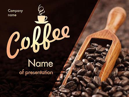 Roasted Coffee Beans Presentation Template For Powerpoint And Keynote Ppt Star Coffee Powerpoint Template
