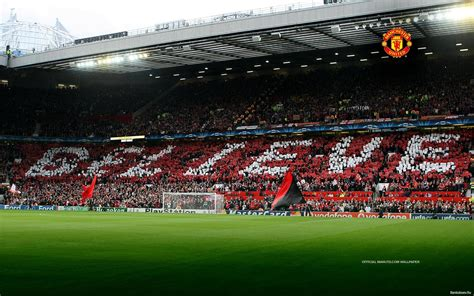 Stadium Wall Mural old trafford wallpapers wallpaper cave