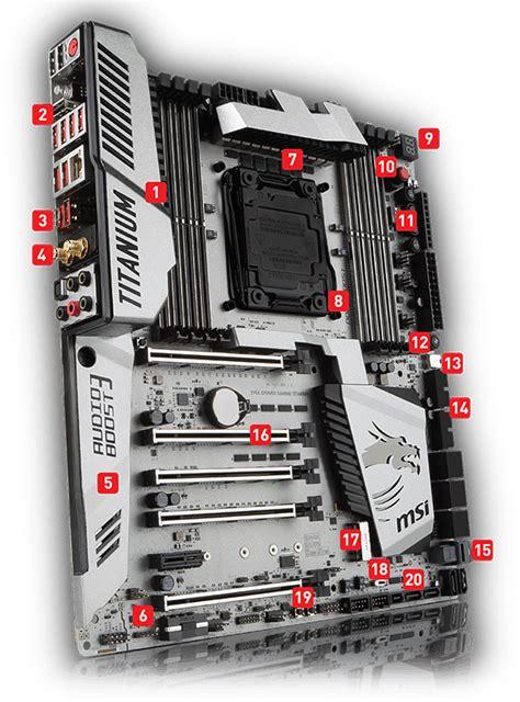 Msi X99a Xpower Gaming Titanium Intel Socket 2011v3 msi x99a xpower gaming titanium motherboard intel
