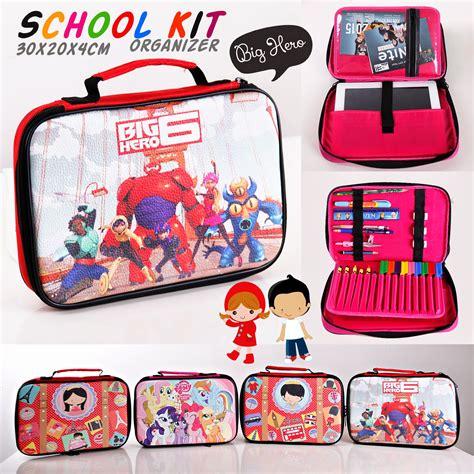 Tas Dokumen Les Anak Jual School Kit Organizer Bag Tas Les Alat Tulis Anak