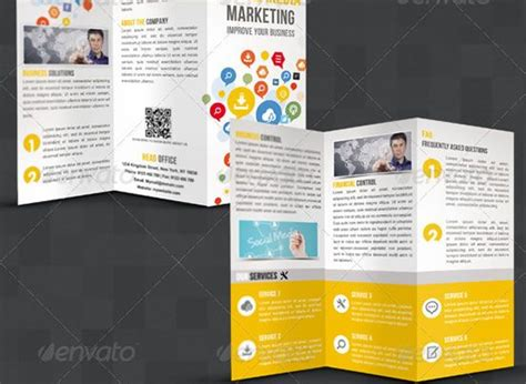 visitor pattern fold creative tri fold brochure design templates entheosweb