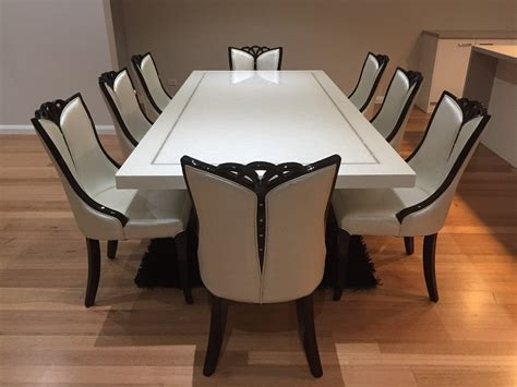 Bianca Marble Dining Table With 8 Chairs Marble King Dining Table And Chairs For 8