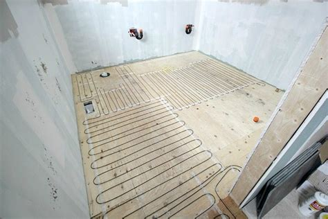 How to install a heated tile floor . and also how NOT to
