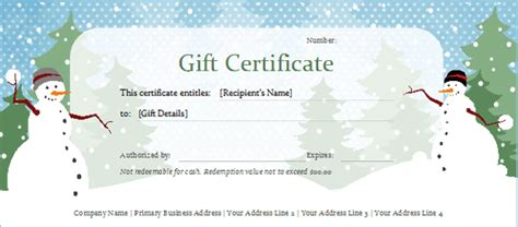 5 Printable Holiday Certificate Templates Blank Certificates Free Gift Certificate Template Word