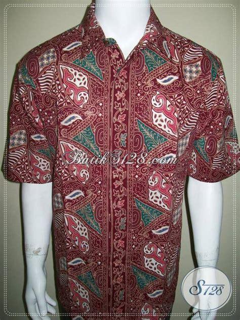 baju aremania asli baju batik cap asli solo kemeja batik kerja pria warna