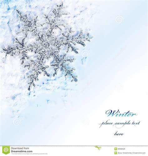 snowflake blue decorative border stock image image of