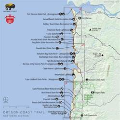 oregon coast state parks map navigating the oregon coast trail outdoor project