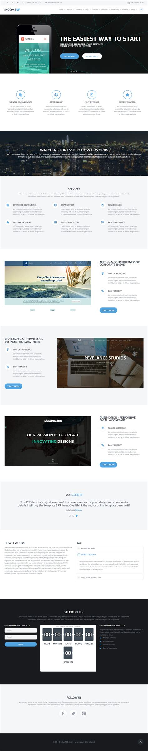 drupal theme landing page 10 best drupal landing page themes 2017 responsive miracle