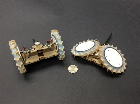 Origami Robot - origami inspired robot can hitch a ride with a rover