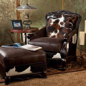 Cowhide Dining Room Chairs brantley chair and ottoman brumbaugh s fine home