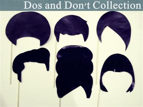 hair style photo booth the dos don t collection 6 large photo prop hairdos