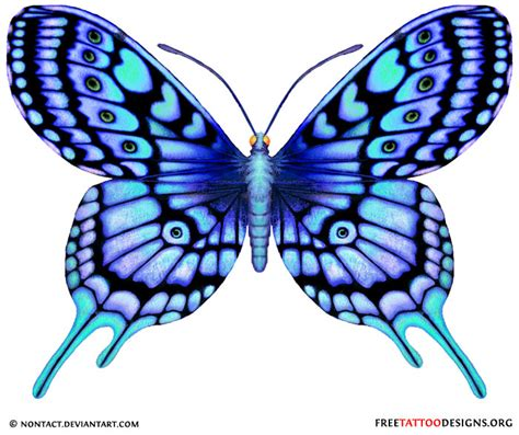 blue butterfly tattoo designs 60 butterfly tattoos feminine and tribal butterfly