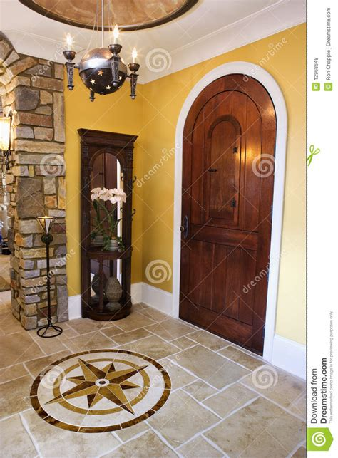 front door  foyer  luxury home royalty  stock