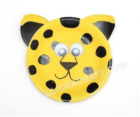 cheetah crafts for paper plate leopard idea paper plate craft