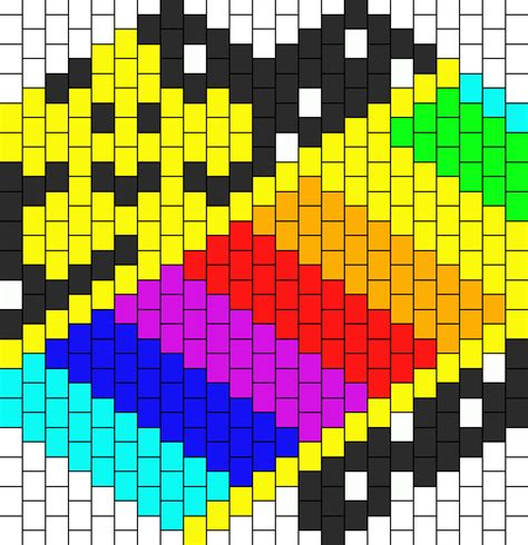 road pattern png super mario n64 rainbow road w star kandi mask bead