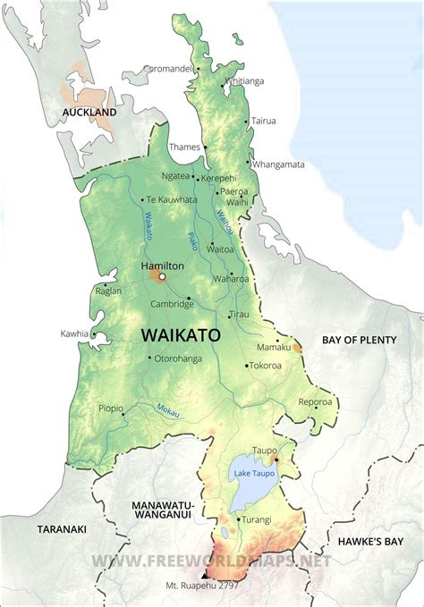 waikato maps nz