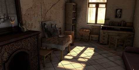 old home interior interior scene set modeling old house by trelderanx on